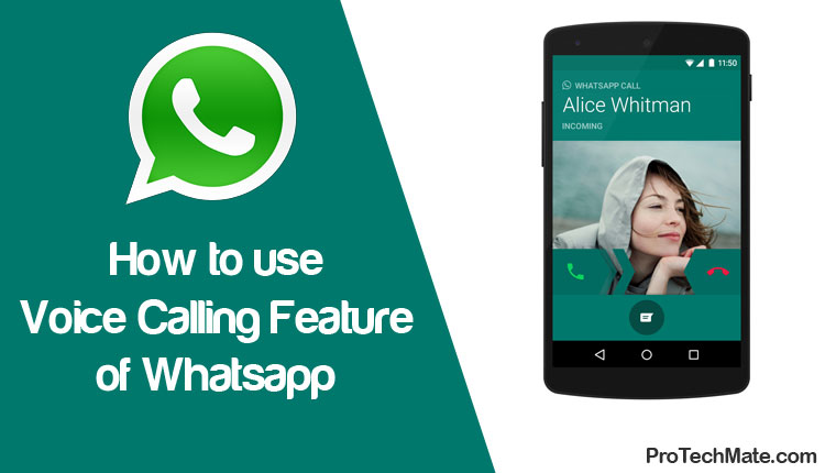 How to use Voice Calling Feature of Whatsapp?